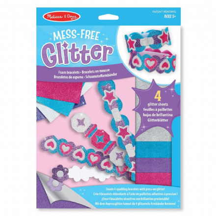 Melissa & Doug Mess-Free Glitter Foam Bracelets Art and Craft Set